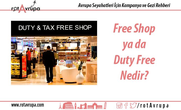 free shop ya da duty free nedir