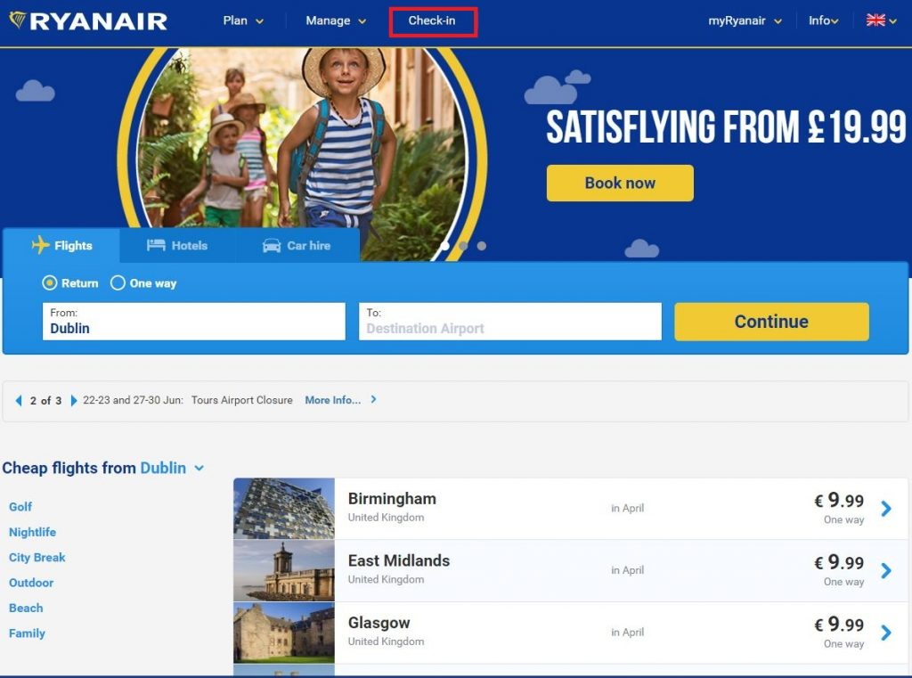 Ryanair online check in nasıl yapılır