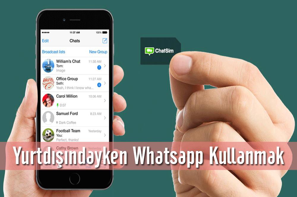 Yurtdışındayken Whatsapp Kullanmak