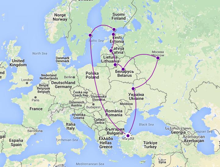 Avrupa'da Örnek Rotalar 4