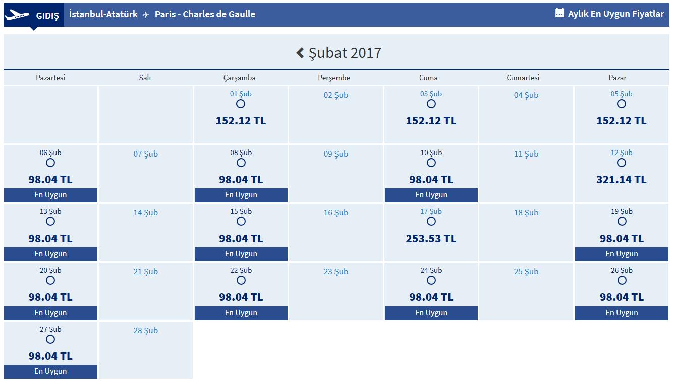 Paris Ucuz Ucak Bileti