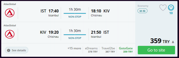 Kişinev ucuz uçak bileti