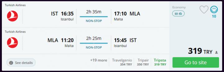 Malta ucuz uçak bileti