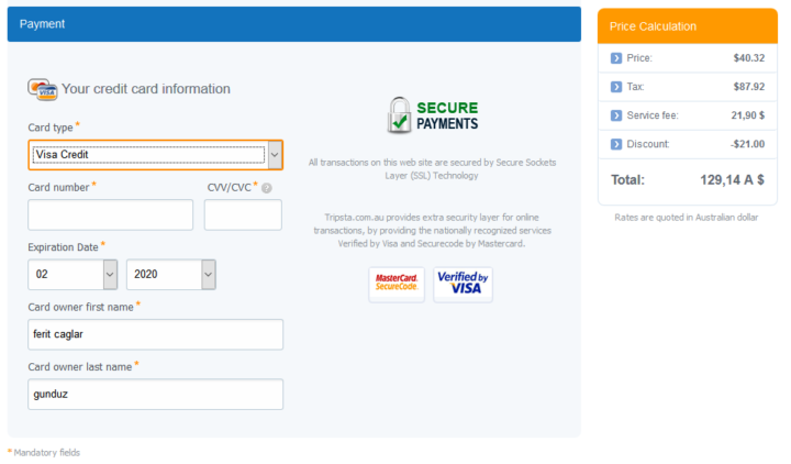 visa kredi kartı ücreti