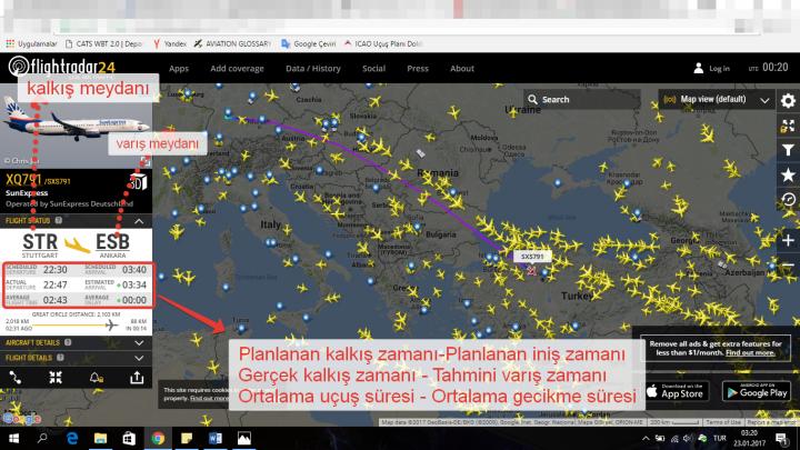 canlı uçak takibi