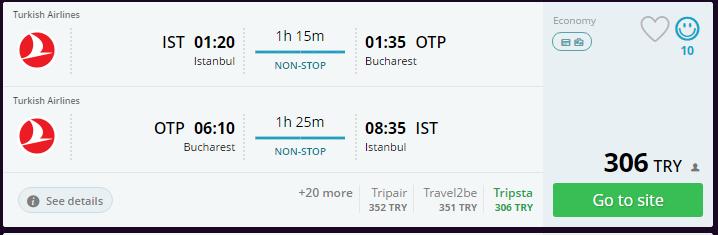 İstanbul-Bukres Ucuz uçak bileti