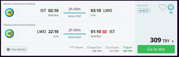 Lviv uçak bileti kampanyası
