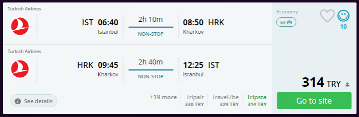 Kharkiv Ucuz Uçak Bileti
