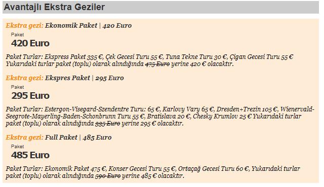 Yurtdışı Turlar Ekstra Geziler