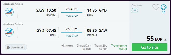 Bakü'ye ucuz uçak bileti