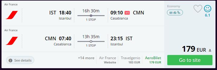 Fas Ucuz Uçak Bileti