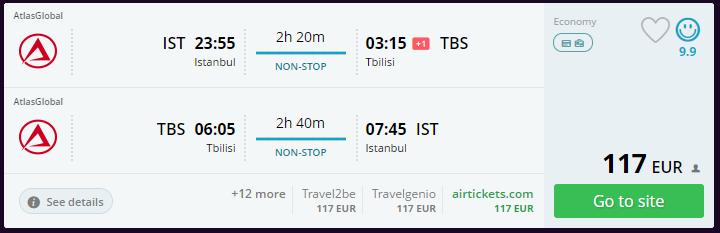 Yılbaşı Tiflis uçak bileti