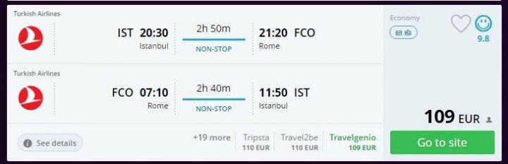 Roma'ya haftasonu uçak bileti