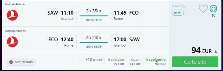 Roma'ya ucuz uçak bileti