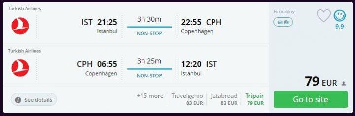 Kopenhag Hafta Sonu Ucuz Uçak Bileti