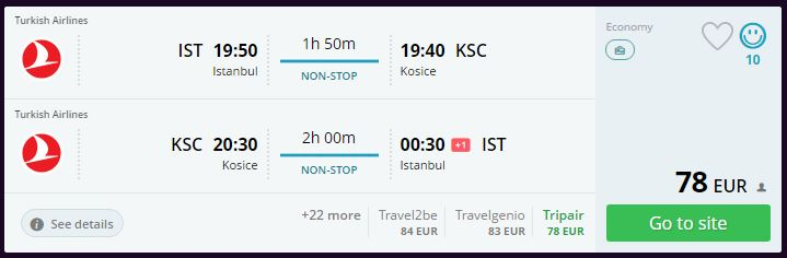 Slovakya - Kosice ucuz uçak bileti