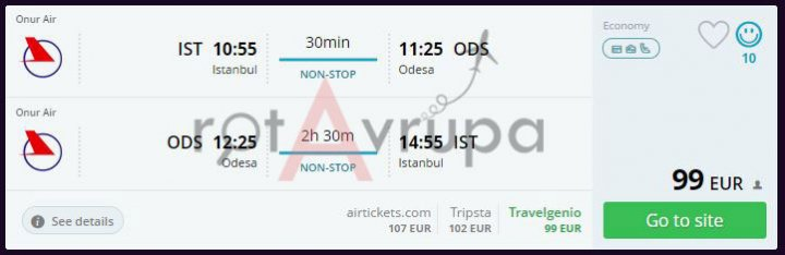 Odesa Ucuz Uçak Bileti